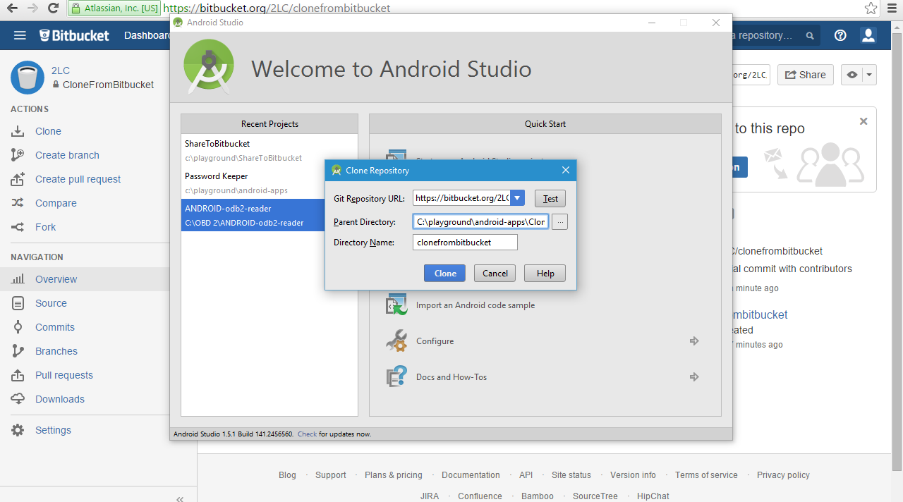 Configure Android Studio to use Bitbucket Git | alin miu