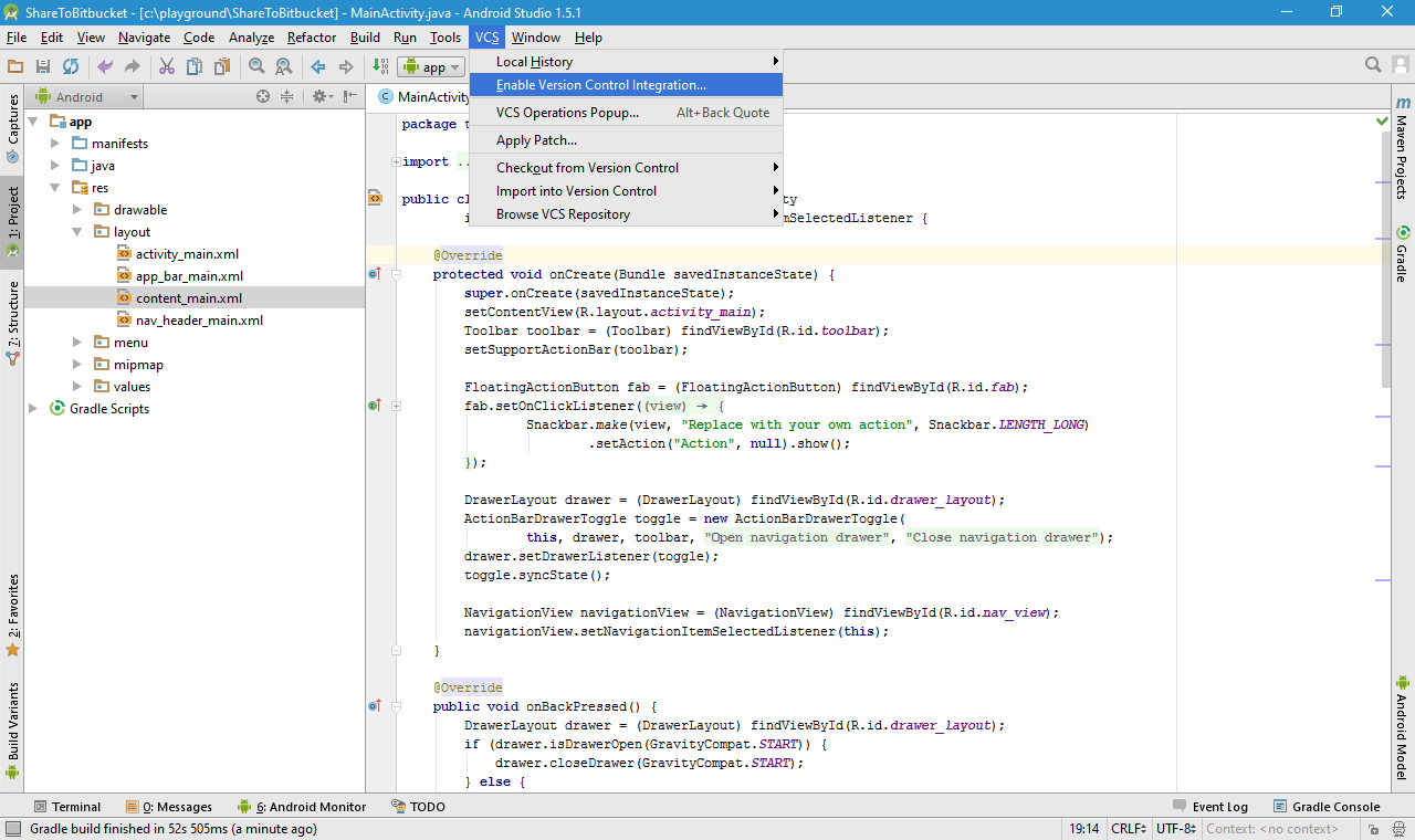 Configure Android Studio to use Bitbucket Git | alin miu